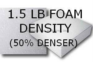 1.5 LB Foam Density (+$45)- 50% Denser than Standard 1 Lb Density Foam.