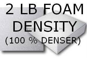 2 LB Foam Density (+$55)- 100% Denser than Standard 1 Lb Density Foam.