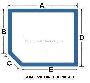 Square or Rectangular with One Cut Corner